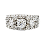 Exquisite 14K White Gold Women's Sparkling Diamond Ring 2.07CTW - Brand New