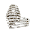 Stylish Modern 14K White Gold Women's Unique Diamond Ring 1.68CTW - Brand New