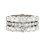 Beautiful and Elegant 14K White Gold Women's Diamond Ring - 2.54 CTW - Brand New