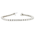Elegant 14K White Gold Women's Diamond Tennis Bracelet 7.02CTW - Brand New