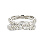 Unique Modern 18K White Gold Women's Sparkling Diamond Ring 1.03CTW - Brand New