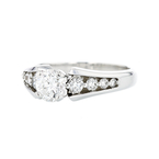 Stunning 14K White Gold Charming Diamond Women's Ring 1.12CTW - Brand New