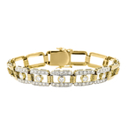 Stylish Modern 18K Yellow Gold Women's Diamond Bracelet 2.05CTW - Brand New