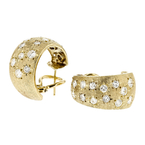 Fancy 14K Yellow Gold Ladies Gorgeous Diamond Earrings 1.20CTW - Brand New