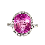 Exquisite 18K White Gold Women's Diamond & Tourmaline Ring - Brand New