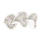 Lovely Heart-Shaped 18K White Gold Women's Diamond Ring - Brand New
