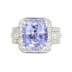 Stunning 18K White Gold Women's Diamond & Sapphire - 1.59CTW Ring - New