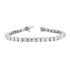 Gorgeous 14K White Gold Tennis Diamond Women's Bracelet 10.05CTW - Brand New
