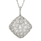 Gorgeous Modern Ladies 18K White Gold Diamond Pendant & Necklace Set - 2.71CTW