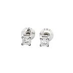 Elegant 14K White Gold Unisex Diamond Stud Earrings - Brand New