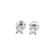 Elegant 14K White Gold Unisex Diamond Stud Earrings - Brand New