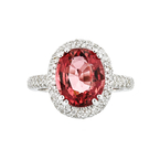 Exquisite 18K White Gold Tourmaline 4.91CT & Diamond 1.32CT Ladies Ring - New