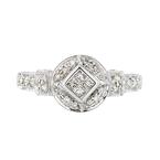 Stunning 18K White Gold Women's Beautiful Diamond Ring - Brand New