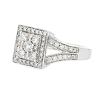 Gorgeous 14K White Gold Women's Diamond Ring 1.12CTW - Brand New