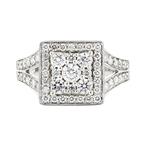 Gorgeous 14K White Gold Women's Diamond Ring 1.12CTW - Brand New