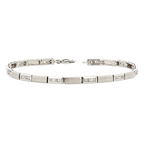 Elegant 14K White Gold Diamond Women's Bracelet - Brand New