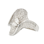Exquisite Modern 14K White Gold Sparkling Diamond Ladies Ring -  1.92CTW - Brand New