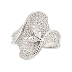 Exquisite Modern 14K White Gold Sparkling Diamond Ladies Ring -  1.92CTW - Brand New