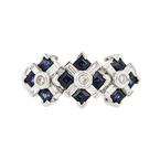Beautiful & Exquisite 14K White Gold Sapphire & Diamond Women's Modern Ring - Brand  New