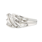 Elegant 14K White Gold 1.06CTW Diamond Weave-Style Women's Ring - Brand New
