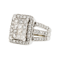 Stunning 10K White Gold Brilliant Cut Diamond 1.25CTW Women's Ring - Brand New