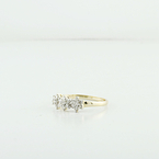 Sparkling Diamond Daffodil 14K Yellow Gold Ladies Jewelry Cocktail Ring Sz 6.75