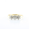 Sparkling Diamond Daffodil 14K Yellow Gold Ladies Jewelry Cocktail Ring Sz 6.75