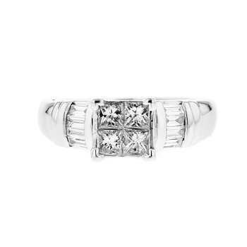 Stylish & Exquisite Platinum Women's Diamond Ring - Brand New