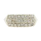 Classic Ladies 14K White Gold Brilliant Diamond Anniversary Ring Band - 0.65CTW