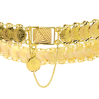 Unique Vintage Estate 18K Yellow Gold Liberty Coin-Shaped Links Bracelet - 7 inch
