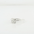 Ladies Lovely White Gold 14K Engagement Solitaire 0.51 Diamond Wedding Ring