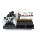 Sony Playstation 3 PS3 CECH-2501A Slim Console With 6 Games - Matte Black