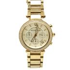 Michael Kors MK-5354 Gold Tone Stainless Steel Womens Chronograph Watch MK5354