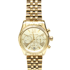 Michael Kors MK-5556 Gold Tone Stainless Steel Chronograph Womens Watch MK5556