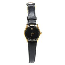 Movado 87.A1.820.2 Gold Tone Black Dial Genuine Leather Womens Watch