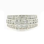 Gorgeous Classic Estate Ladies 14K White Gold Diamond Engagement Ring - 2.27CTW