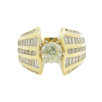 Gorgeous Estate 14K Yellow Gold Diamond 2.10CTW Ladies Engagement Ring
