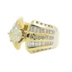 Gorgeous Estate 14K Yellow Gold Diamond 2.10CTW Ladies Engagement Ring