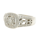 Vintage Estate Ladies Platinaire 1/3 CTW AGW Ornate Diamond Right Hand Ring