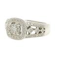 Vintage Estate Ladies Platinaire 1/3 CTW AGW Ornate Diamond Right Hand Ring