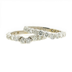 Estate Ladies 14K White Gold Diamond Wedding Ring 3PC Jewelry Set - 2.85CTW