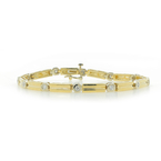 "Ladies Vintage Estate 14K Yellow Gold Diamond 0.36CTW 7"" Bracelet"