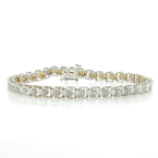Estate Ladies 10K White Gold Diamond 0.55CTW Tennis 7 Inch Bracelet