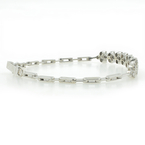 Vintage Estate Ladies 10K White Gold Diamond Bracelet - 7 Inch - 2.08CTW