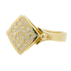 Vintage Classic Estate 18K Yellow Gold Ladies Diamond Ring - 0.50CTW
