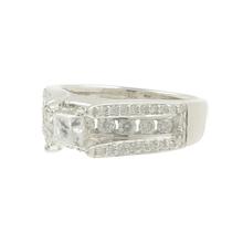 Estate 14K White Gold Ladies Princess Cut Diamond Engagement Ring - 1.23CTW