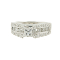 Estate 14K White Gold Ladies Princess Cut Diamond Engagement Ring - 1.23CTW