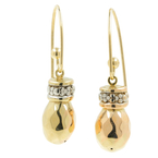 Vintage Classic Estate 14K Yellow Gold Ladies Hollow Drop Earrings