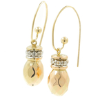 Vintage Classic Estate 14K Yellow Gold Ladies Hollow Drop Earrings