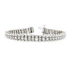 Gorgeous Modern 14K White Gold Ladies Diamond Bracelet - 3.31CTW - New